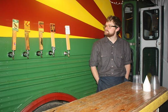 Brew truck Beervana launched this weekend at Portland's new D-Street Noshery food-cart pod. - BRIAN YAEGER