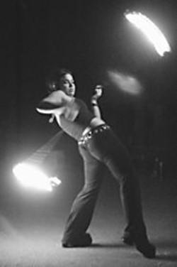 PAOLO  VESCIA - Bridget Harrison practices poi.