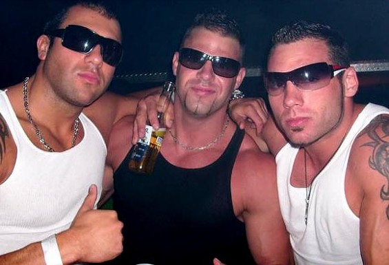 Bros? Check. Corona? Check. Chinstrap? Check. These guys are three-quarters of the way there already.