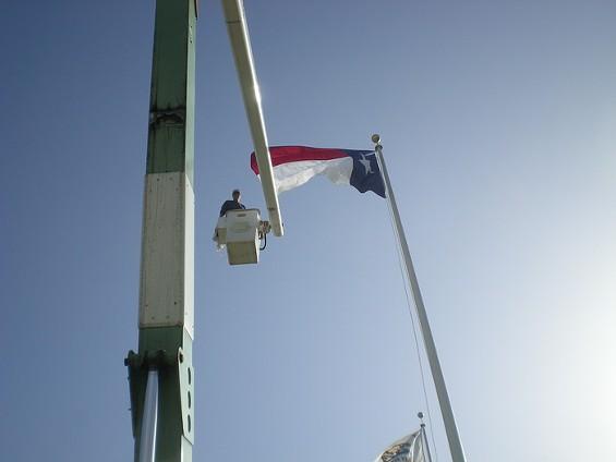 Bruce Porteous changes up the Lone Star flag - JOE ESKENAZI