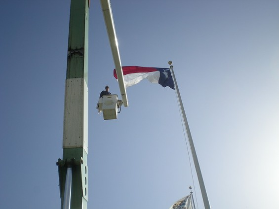 Bruce Porteous changes up the Lone Star flag - JOE ESKENAZI