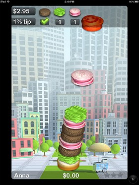 Build your own burger skyscraper in Burger Frenzy.