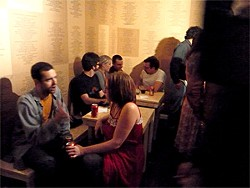 COURTESY OF QUEEN'S NAILS ANNEX - BULK turns Queens Nails Annex into one ongoing opening night party, complete with Tecate and arty facial hair.