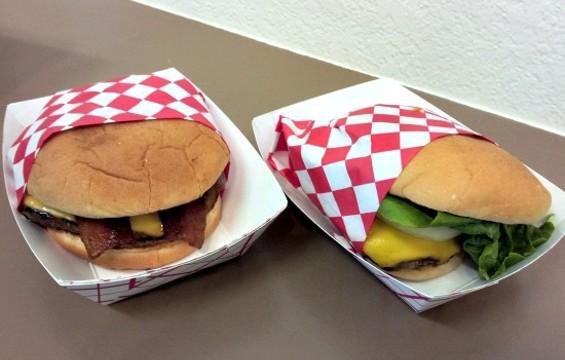 Burgers at V2 - PETE KANE
