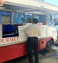 Burmese Gourmet's rented truck.