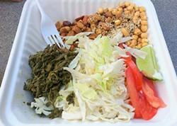 JONATHAN KAUFFMAN - Burmese Gourmet's tea leaf salad, $5.