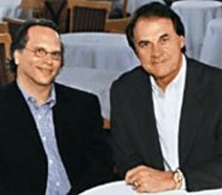 MIKHAIL  LEMKHIN - Buzz Bissinger and Tony La Russa - strategize.