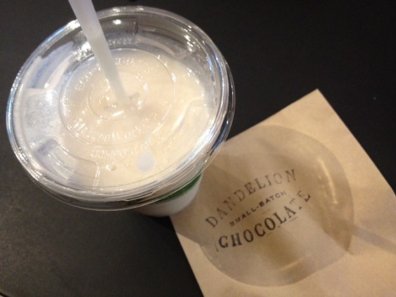 Cacao fruit smoothie by Dandelion Chocolate. - TAMARA PALMER