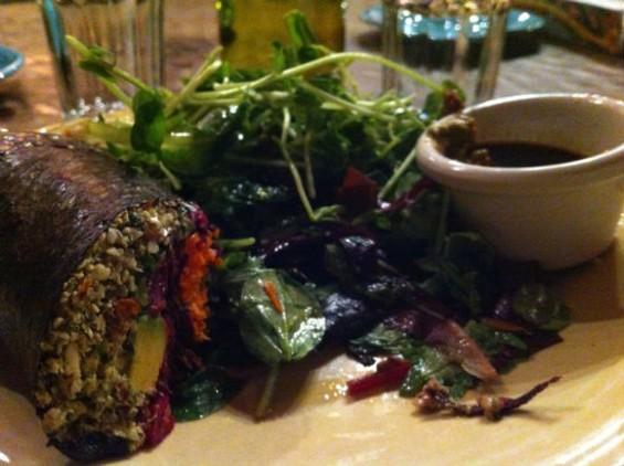 """Café Gratitude's vegan iteration of sushi, """"I Am Transparent"""" - MOLLY GORE"""