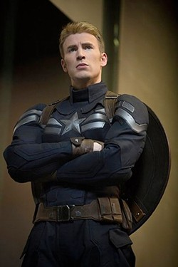 Captain America and his substandard safety equipment.