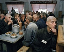 "Carl de Keyzer captured life in Siberian prisons, including ""model"" ones like this."