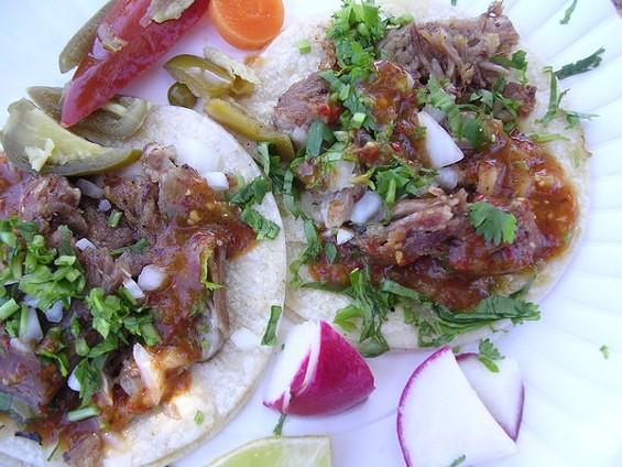 Carnitas tacos ($1.50 each). - JOHN BIRDSALL