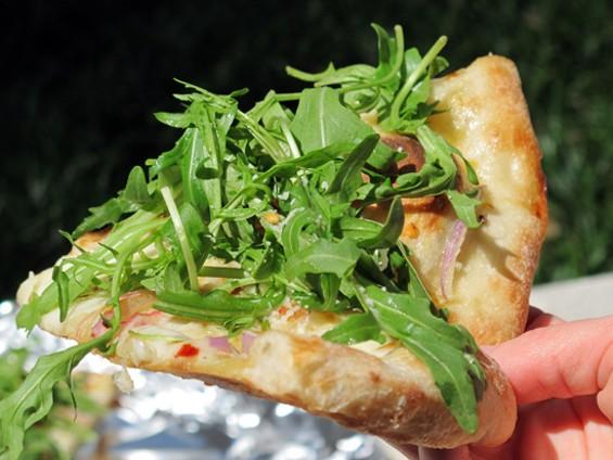 Casey's Arugula Pizza - LOU BUSTAMANTE
