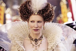 LAURIE SPARHAM - Cate Blanchett reprises her role as Elizabeth. She's queen, and she's got the wigs to prove it!