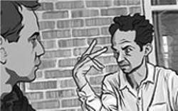 PATRICK  SABISTON - Caveh Zahedi  as an animated figure in Waking - Life.