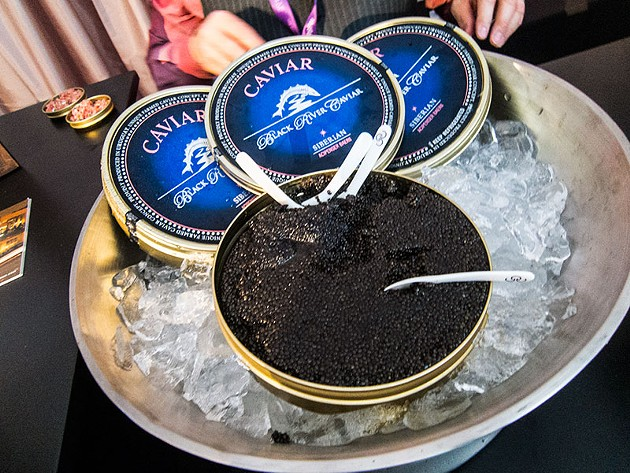 Caviar presentation from The Strand House during the Lexus Grand Tasting Tent. - THE DAPPER DINER