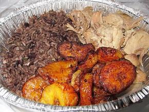 Cha Cha Cha Cuba's lechon asado with fried platanos and Cuban rice and beans, $13.50. - LUIS CHONG
