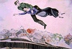 Chagall's Above the Town.