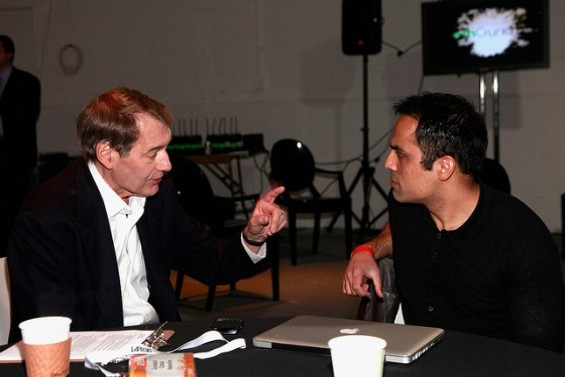 Chahal pictured at right at a TechCrunch event in New York in 2011. - TECHCRUNCH/FLICKR