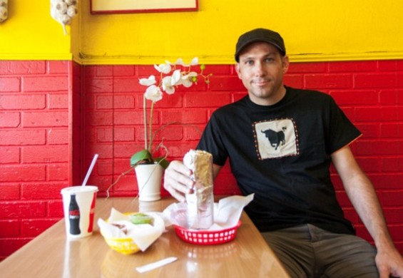 Charles Hodgkins at Taqueria Cancun. - PATRICIA CHANG