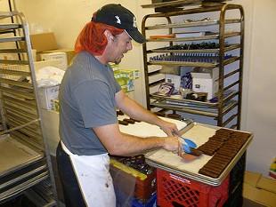 Charlie Frank, at Zingerman's candy kitchen in Ann Arbor, Mich. - ALEX HOCHMAN