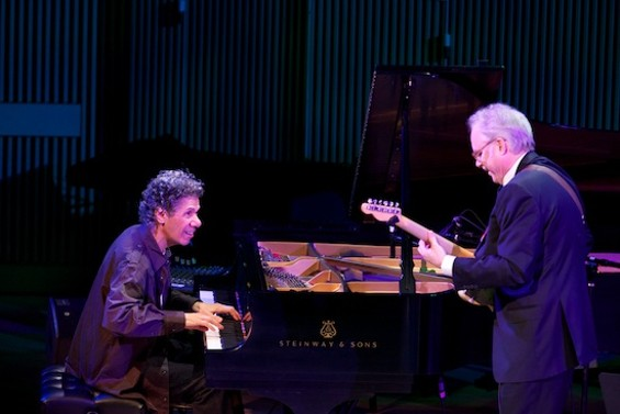 Chick Corea and Bill Frisell at the SFJAZZ Center Opening Night Concert - SCOTT CHERNIS FOR SFJAZZ