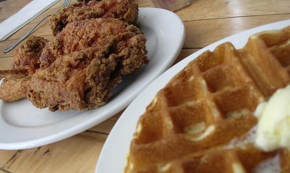 Chicken and waffle ($9). - JOHN BIRDSALL