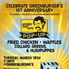 Chicken and Waffles Popup Celebrates Greenburger's One-Year Anniversary
