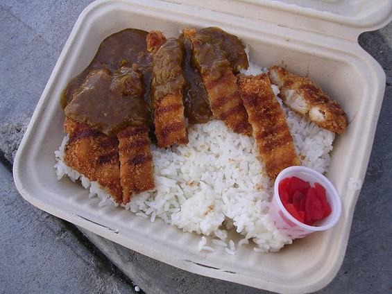 Chicken katsu curry, $8, from JapaCurry. - JOHN BIRDSALL