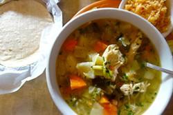 FERRON SALNIKER - Chicken soup at El Taco Zamorano Restaurant in Fruitvale.