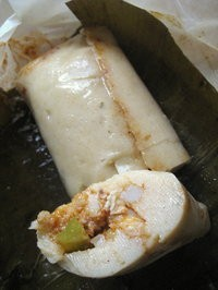 Chicken tamal from Salvadorean Bakery. - JONATHAN KAUFFMAN