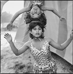 MARY ELLEN MARK - Child labor laws hadn't quite caught up to 1989's Acrobats Rehearsing Their Act at Great Golden Circus.