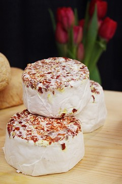 Chile-flecked Devil's Gulch cheeses from Cowgirl Creamry. - STEPHANIE IM