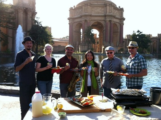 Ching-He Huang with the Josh Jones Jazz Band at The Palace of Fine Arts - J. NEWTON