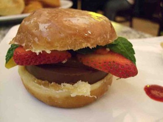 Chocolate Burger at Burger Bar. - T. PALMER