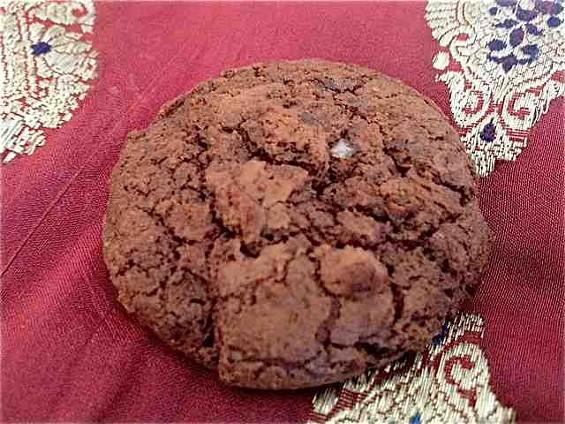 Chocolate salted rye cookie at Tartine Bakery. - TAMARA PALMER