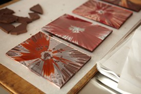 Chocolate spin art by Recchiuti. - TOM SEAWELL PHOTOGRAPHY