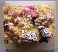 Chocolate-strawberry bread pudding ($3). - JOHN BIRDSALL