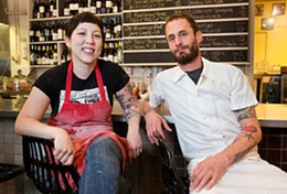 Chris Beerman with pastry chef Cheryl Burr.