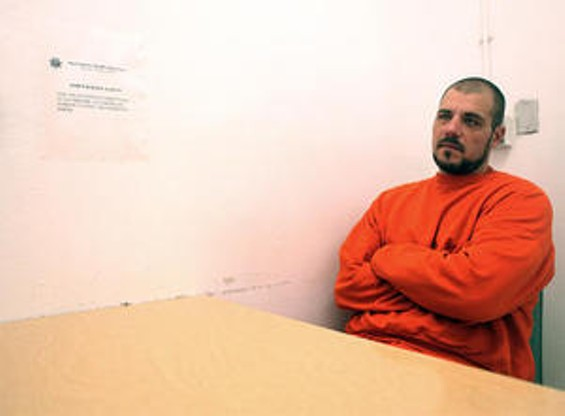 Chris Brymer in the present day, incarcerated in San Francisco County Jail - JOSEPH SCHELL
