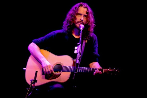 Chris Cornell at the Fillmore last night. - CALIBREE PHOTOGRAPHY