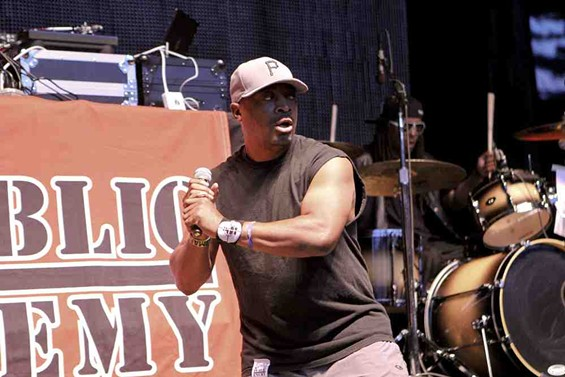 Chuck D goes to bat for Public Enemy. - CHRISTOPHER VICTORIO