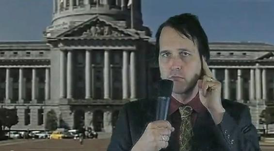 Chuck Prophet as newsman.