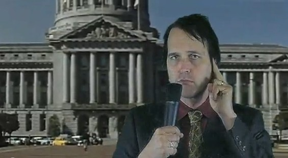 Chuck Prophet as newsman.