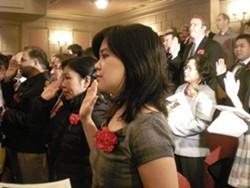 Citizens-to-be take the oath - JOE ESKENAZI