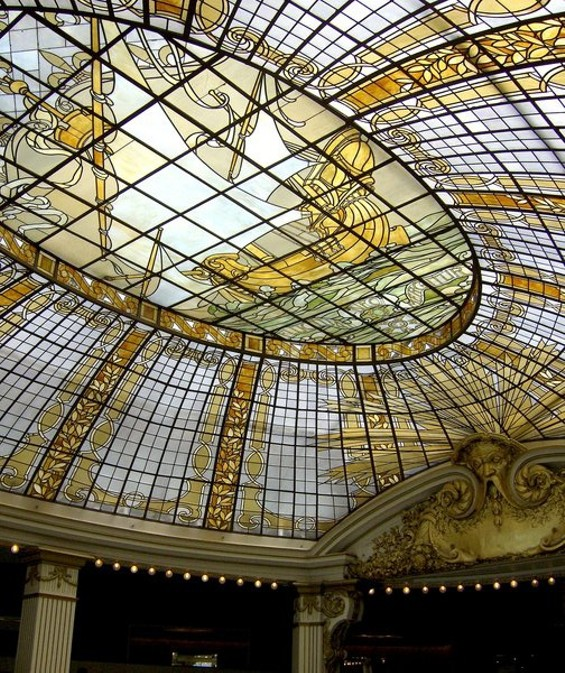 Classier than Boogaloos: The stained glass dome of the Rotunda at Neiman's. - TREVOR ADAMS