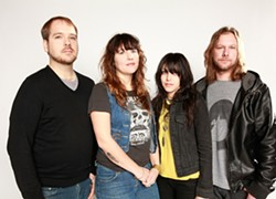 AMANDA LOPEZ - Clean and alive: Baker, second from right, with her band.