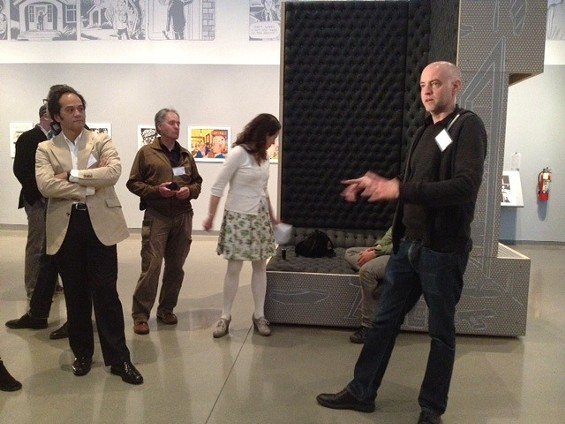 "Clowes previews ""Modern Cartoonist"" at the Oakland Museum of California. - TAMARA PALMER"