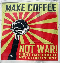 Coffee is not a weapon - SINOR FAVELA VIA FLICKR