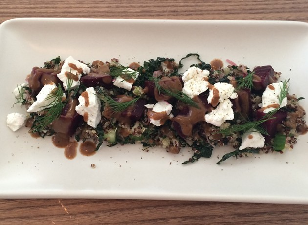 Coffee-roasted beet and quinoa salad. - PETE KANE